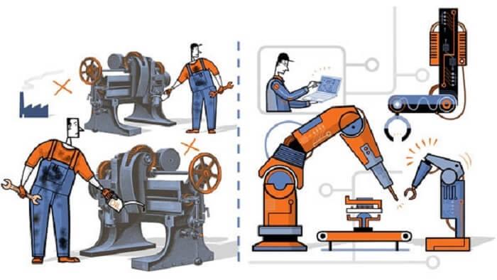 Công nghệ 4.0 áp dụng trong các robot hay máy móc giúp con người tiết kiệm được sức lực, tiền của và các chất thải công nghiệp